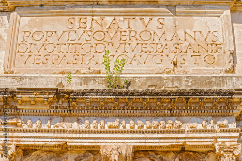 The arch of Titus in Rome Italy Wallpaper Mural