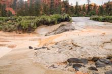 Summer Storm Flash Floods At Red Canyon Utah