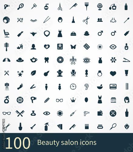 Fotografie, Obraz  100 beauty salon icon