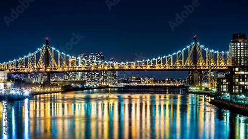Ed Koch Bridge (aka Queensboro bridge) by night