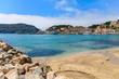 Beautiful beach in Port Soller town, Majorca island