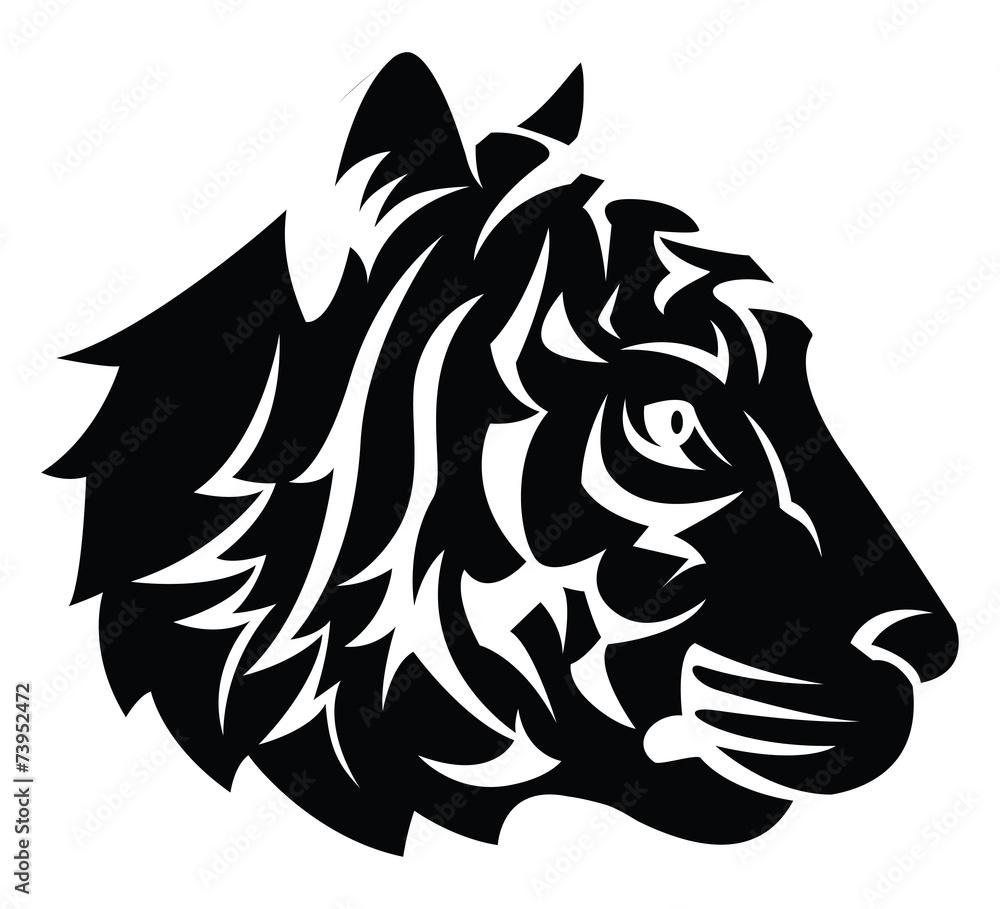 Naklejka Ozdobna Tatuaż ścienny Tatuaż Tygrysa