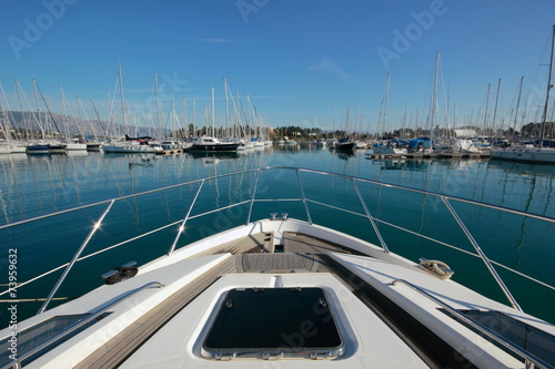 Garden Poster Water Motor sports View from Super Yacht