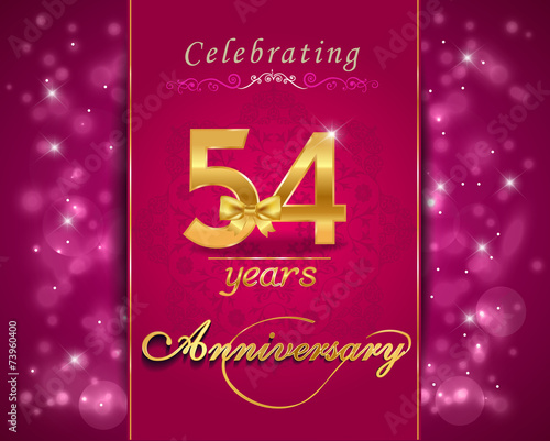 54  year anniversary celebration sparkling card Canvas Print