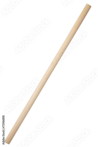 Fotografía  Wooden stick isolated on white background