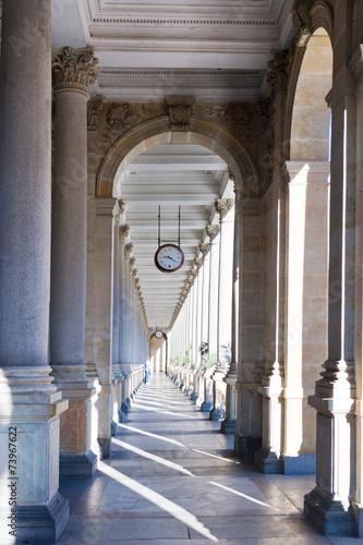 Mill colonnade, spa town Karlovy Vary, Czech republic