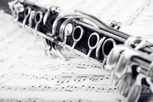 Musical Notes And Clarinet