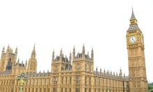 Westminster Palace In London Isolated On White