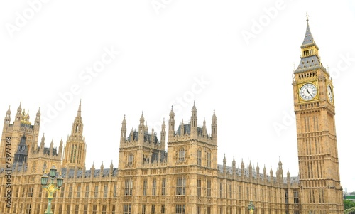 Fotografija Westminster Palace in London isolated on white