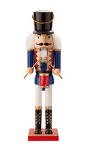 Antique Nutcracker Drummer Isolated