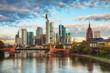 Frankfurt cityscape at sunrise
