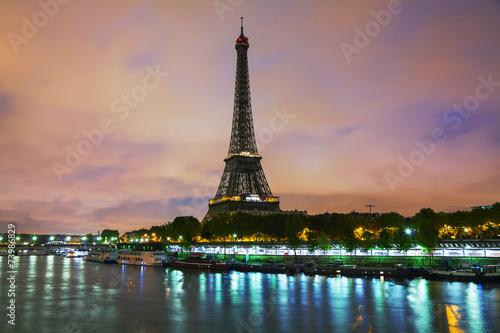 Papiers peints Paris Paris cityscape with Eiffel tower