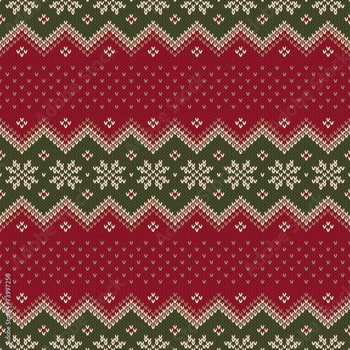 2ad220ba3 Traditional Christmas Sweater Design. Seamless Pattern - Buy this ...