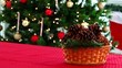 tree and Pine Cones christmas decoration