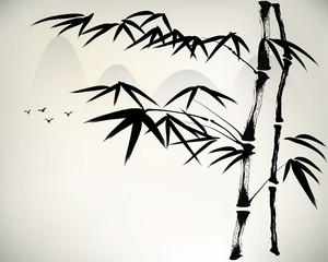 Naklejkaink painted bamboo