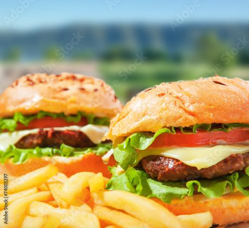 Fototapety, obrazy: fastfood burgers