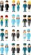 Set of people icons. Occupation avatars in colorful style