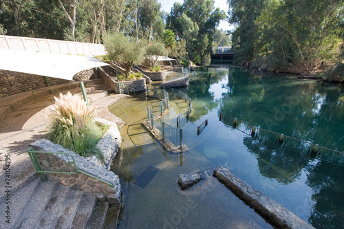 Baptismal site Yardenit Fototapet