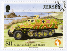 JERSEY - 2013: Shows SD KFZ 25...