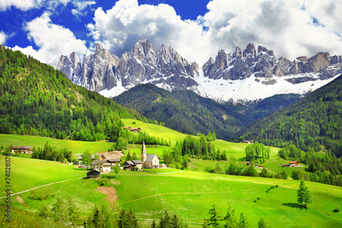 Deurstickers Alpen Dolomites - wonderland in Alps