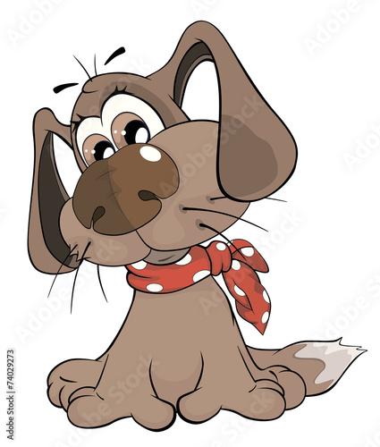 Papiers peints Chambre bébé Cute dog. Cartoon