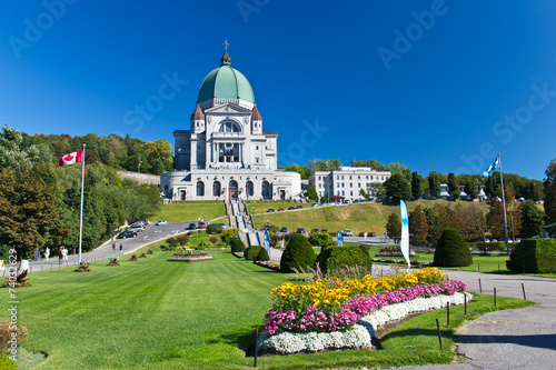 Spoed Foto op Canvas Canada The Saint Joseph Oratory in Montreal, Canada is a National Histo