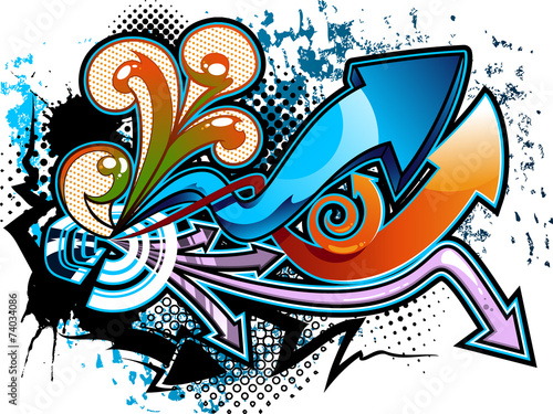 Photo  Graffiti background
