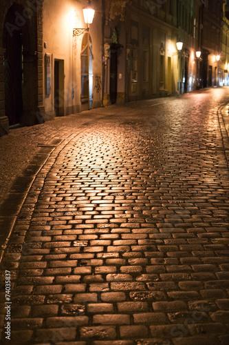 Staande foto Praag Prague Old Town street