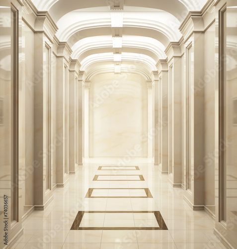 Fotografie, Tablou  Entrance hall in classic style