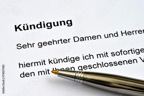 Vertrag Kündigung Kündigungserklärung Vertragsauflösung Kaufen