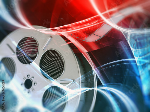 Film reel background #74041099
