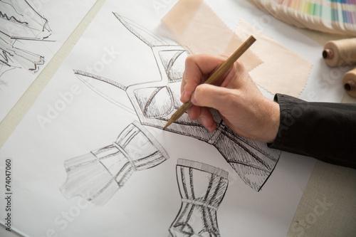 Fotografie, Obraz  fashion or tailor designers
