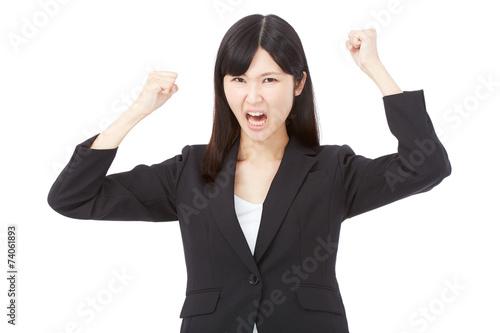 Fotografía  激怒するビジネスウーマン