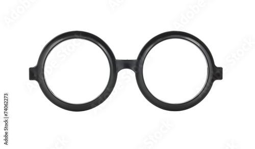 Photo  Round frame glasses isolated on white background