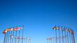 Leinwandbild Motiv international flags against the sky