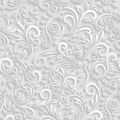 Obraz na Szkle Floral 3d Seamless Background