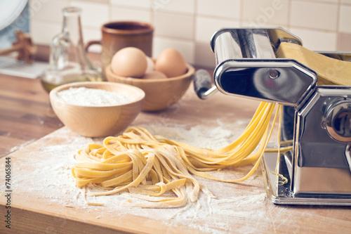 fresh pasta and pasta machine Canvas Print
