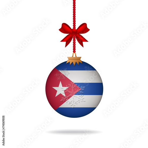 Photo Christmas ball flag Cuba