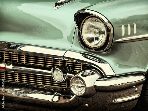 Photo sur Toile Vintage voitures Retro styled image of a front of a classic car