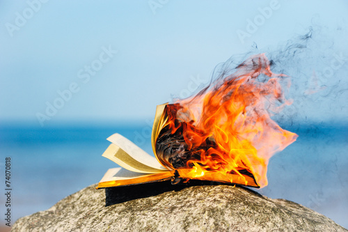 Fotografiet  Burning Book