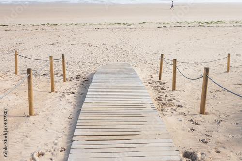 Fotografia  entrada a la playa