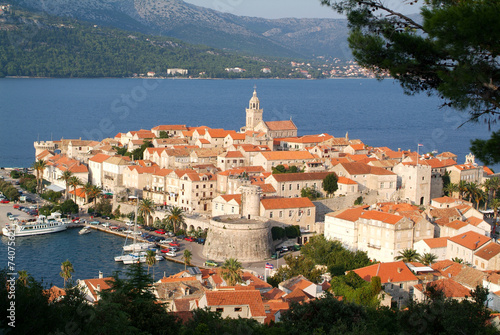 Fotografie, Obraz  The old town of Korcula