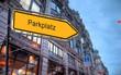 Strassenschild 23 - Parkplatz