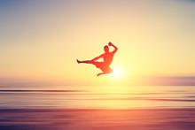 Abstract Flying Kick