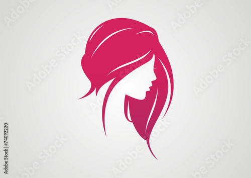 Woman Hair Style Silhouette Logo Vector Buy This Stock Vector And