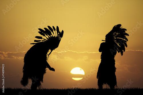 Carta da parati Indian at sunset