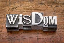 Wisdom Word In Metal Type