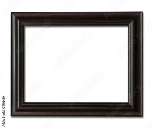 wood frame photo with clipping path. Wall mural