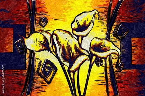 obraz-olejny-streszczenie-kwiat