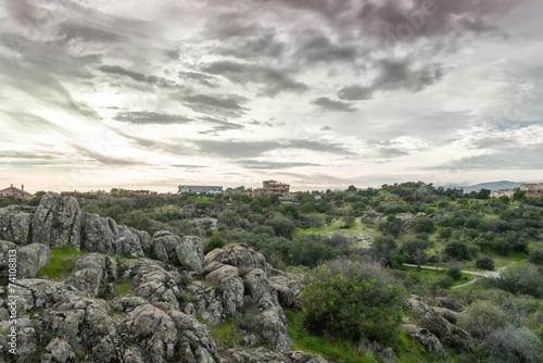 Tormenta en el campo, Torrelodones,Madrid,España
